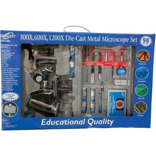 Orbitor 1200X Taşıma Çantalı 98 Parça Çocuk Mikroskop Seti