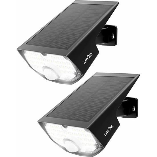 Lıtom Güneş Işıkları 14.4 In² Güneş Paneli Ayarlanabilir-2 Pack