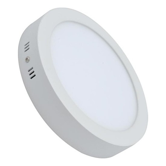 LED Panel Armatür Sıva Üstü Yuvarlak 18 W Beyaz