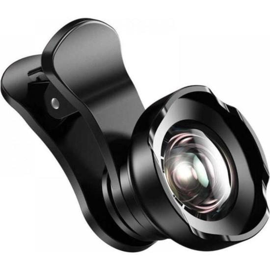 Baseus Short Videos Balık Gözü HD Çözünürlüklü Telefon Kamera Lensi Siyah