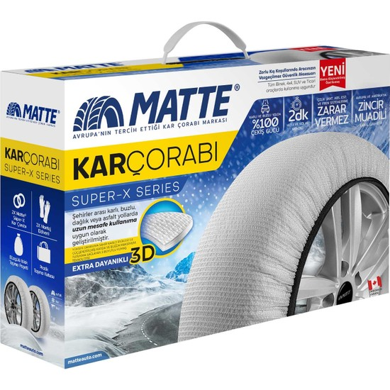 Matte Kar Çorabı - Superx Series