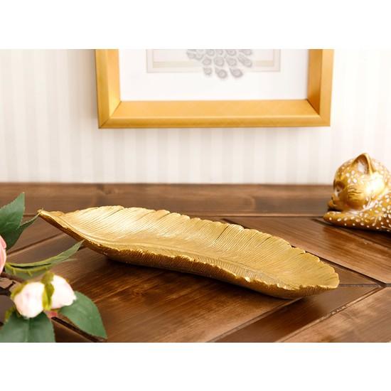 English Home Leafy Dekoratif Tabak 25,3x8,8x4,4 Cm Gold