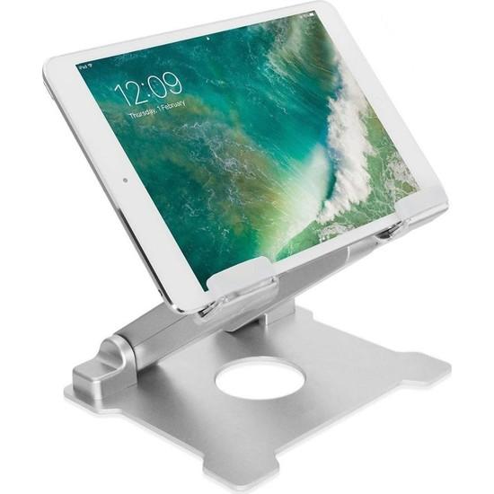 iDock T27 Alüminyum Büyük Ağır ve Stabil iPad Tablet Standı - Gümüş Renk