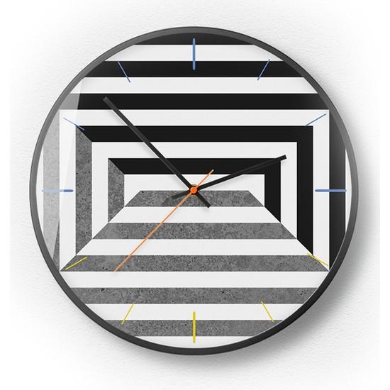 Yukka Geometrik Şekil Duvar Saati Basit Stil Saat