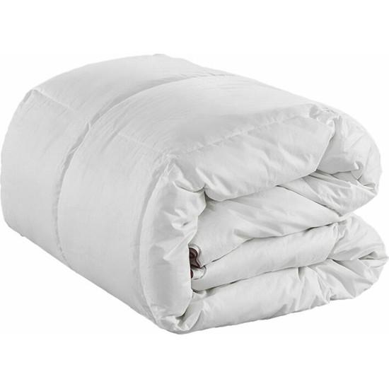 Soft Colours Pamuk Yüzeyli Düz Beyaz Bebek Yorganı 95 x 145 cm