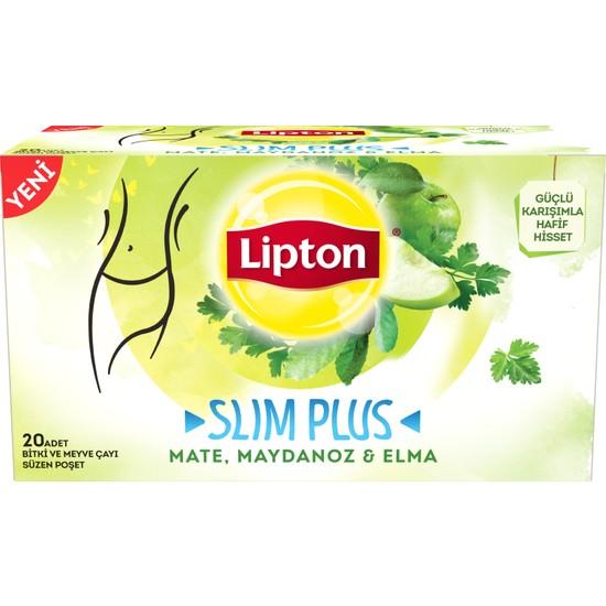 Lipton Slim Plus Elma & Maydanoz 34gr Bitki ve Meyve Çayı