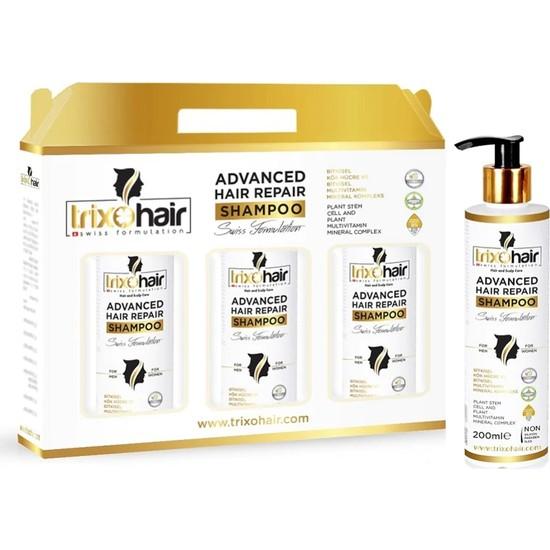 Trixohair Saç Dökülmesine Karşı Saç Bakım Şampuanı Kadınlar İçin 200 ml 3'lü