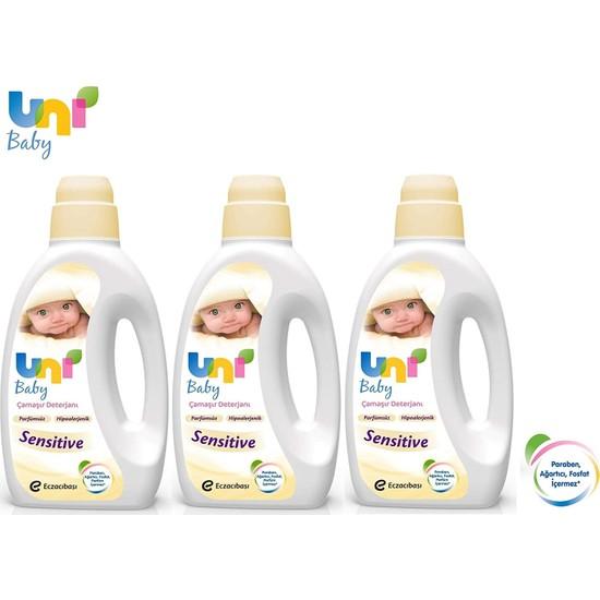 Uni Baby Sıvı Çamaşır Deterjanı 1800 ml 3'lü Set Sensitive