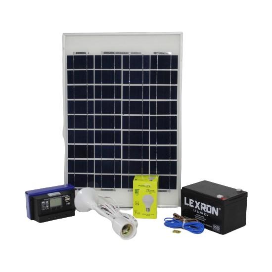 İsos Güneş Paneli 20 W + 1 Lambalı Solar Aydınlatma + Telefon Şarj Sistemi