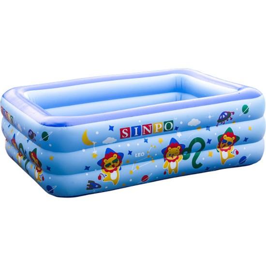 Yukka Şişme Yüzme Havuzu Çocuk Bebek Küvet Banyo Çocuk Havuzu 1-5 Kişi İçin Şişme Havuz 180 cm