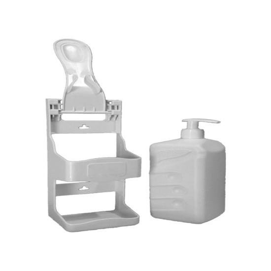 Ambalaj Şehri Dirsek Dokunmalı El Dezenfektan Makinesi Duvar Askı Aparatı Dispenseri + 1 Lt Şişe ve Pompa
