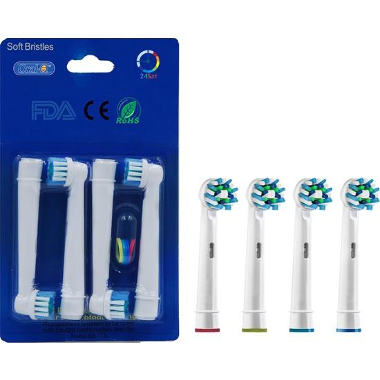 Oral B Diş Fırçasına Uyumlu Yedek Başlık 4'lü Fırsat Paket