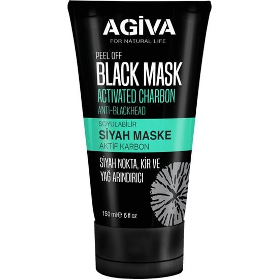 Agiva Soyulabilir Siyah Maske 150ML