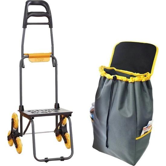 Dopagu Çok Fonksiyonlu Merdiven Çıkabilen 45 kg Kapasiteli Taşıma Arabası
