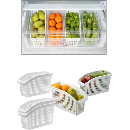 Esnaf Dede Buzdolabı İçi Düzenleyici Dolap İçi Düzenleyici Organizer 4'lü