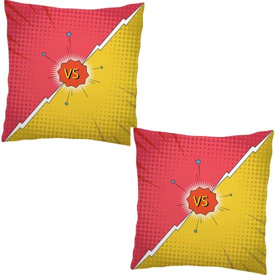 Elele Home Dekoratif Yastık Kırlent Kılıfı-EYS-34-2-SET