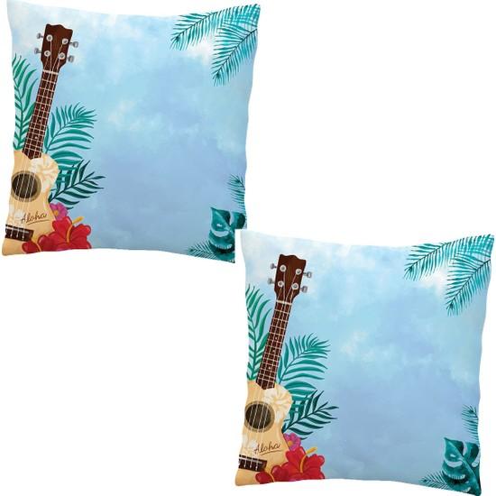 Elele Home Dekoratif Yastık Kırlent Kılıfı-EYS-72-2-SET