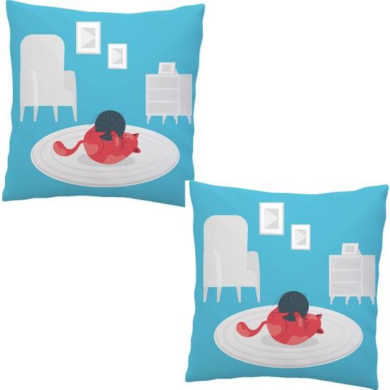 Elele Home Dekoratif Yastık Kırlent Kılıfı-EYS-255-2-SET