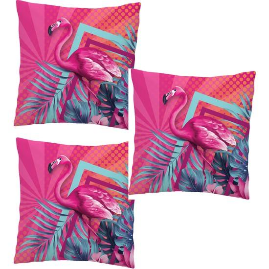 Elele Home Dekoratif Yastık Kırlent Kılıfı-EYS-92-3-SET
