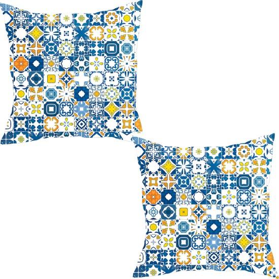 Elele Home Dekoratif Yastık Kırlent Kılıfı-YS41264959-2-SET