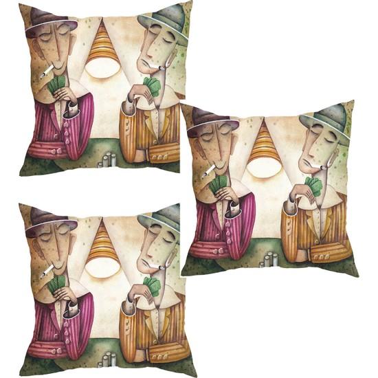 Elele Home Dekoratif Yastık Kırlent Kılıfı-YS35589544-3-SET
