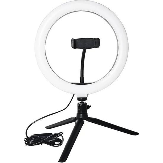 "Kyrotech Ring Light Sürekli Işık 8"" Halka Işık Youtuber Video Makyaj Kuaför Işığı"