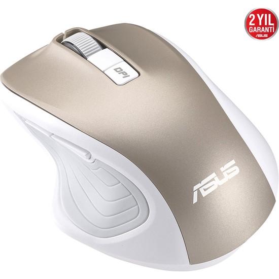 Asus WT425 Kablosuz Optik Sessiz Tıklama Özellikli Mouse Altın