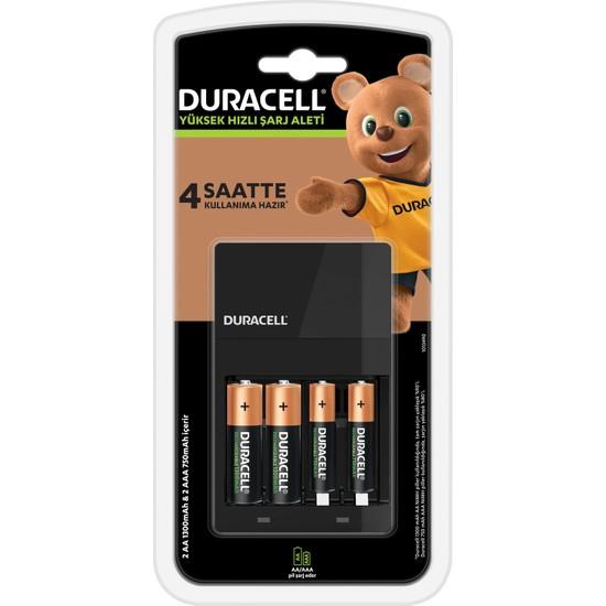 Duracell CEF 14 Şarj Aleti + 2'şer adet AA ve AAA Pil