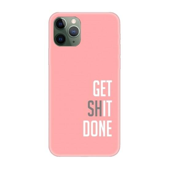 Casethrone Apple iPhone 11 Pro Max Pembe İçi Kadife Silikon Telefon Kılıfı Pmb14 Getshit