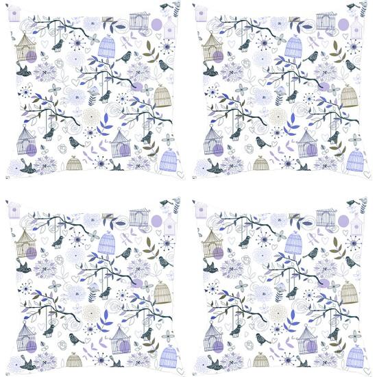 Elele Home Dekoratif Yastık Kırlent Kılıfı-YS69873628-4-SET