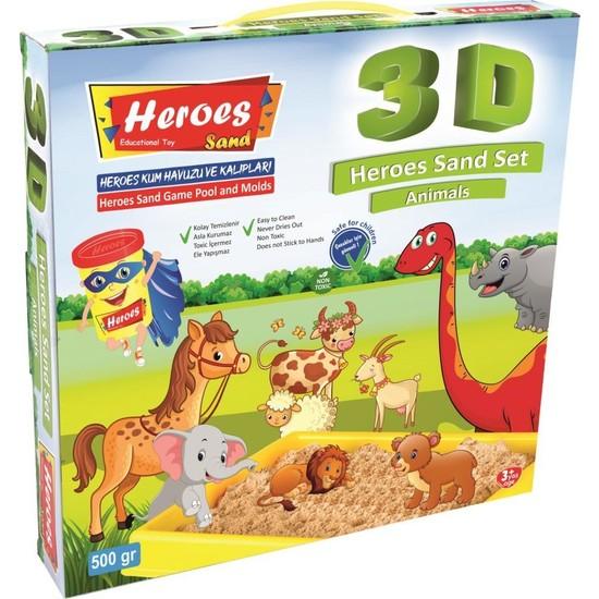 Heroes 3D Kalıplı Dinazor Kinetik Kum Set 500 gr KUM-031