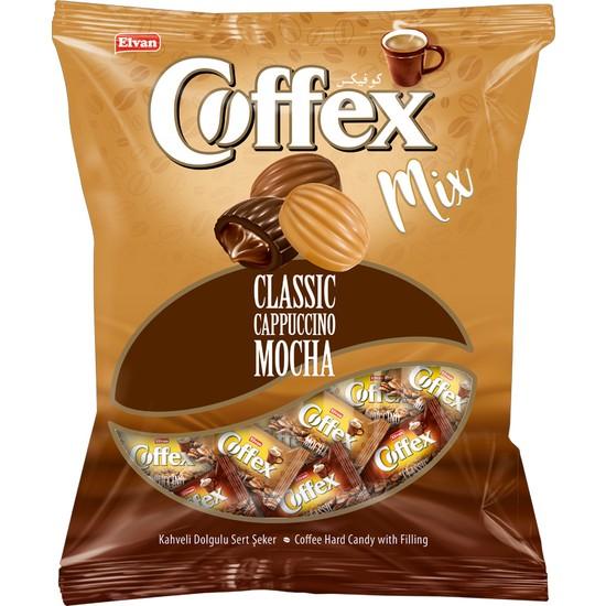 Elvan Coffex Mix Şeker (Kahve-Cappuccıno-Mocha) 1000 gr (1 Poşet)
