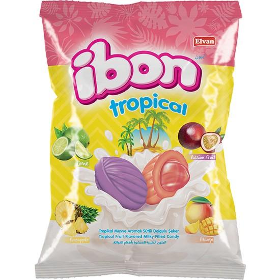 Elvan Ibon Tropıcal Sütlü Meyveli Şeker 1000 gr (1 Poşet)