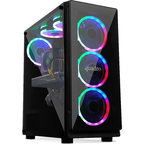 Quadro Battle RX3-N 12982 AMD Ryzen 3 1200 8GB 256GB SSD GTX1650 Freedos Masaüstü Bilgisayar