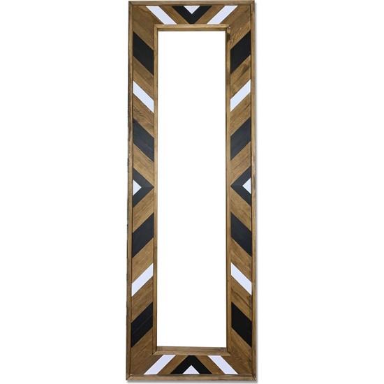 Decogiz Dekoratif Ahşap Boy Aynası 180 x 60 cm