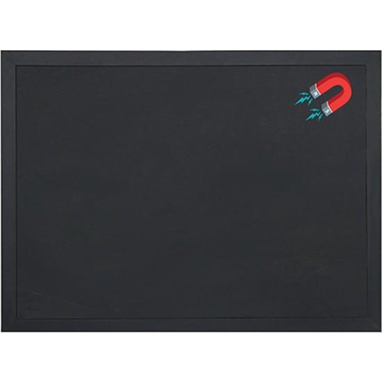 Vivekka 45x60 MDF Çerçeve Duvara Monte Manyetik Yazı Tahtası Siyah