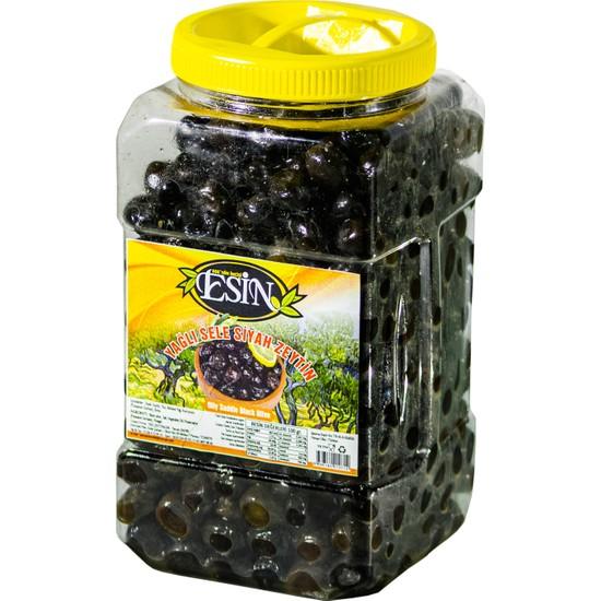 Esin Zeytin Ege'nin İncisi Esin Kahvaltılık Gemlik Yağlı Sele Siyah Zeytin Süper Boy 2 Kg