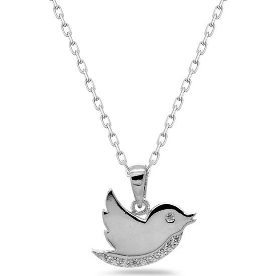 Else Silver Gümüş Tiny Kuş Kolye
