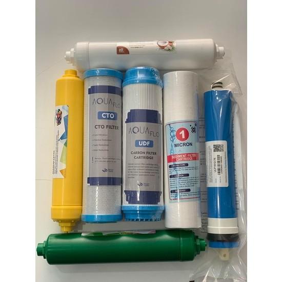 Aqua Su Arıtma Açık Kasa 7 Aşama Yedek Filtre Seti