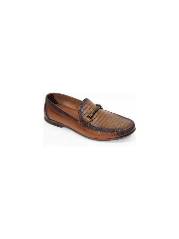 Footmark Tpu 205 Taba Örgü Antik Deri Ayakkabı
