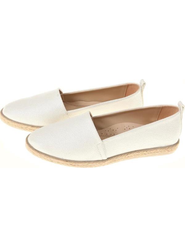 Espadril Kadın Ayakkabı Beyaz