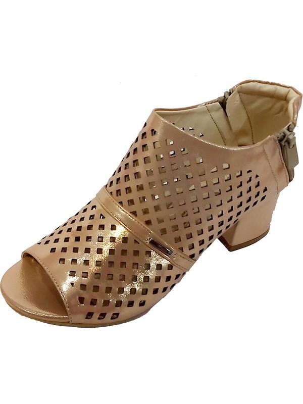 Sms 30134 Kalın Topuklu Kadın Sandalet