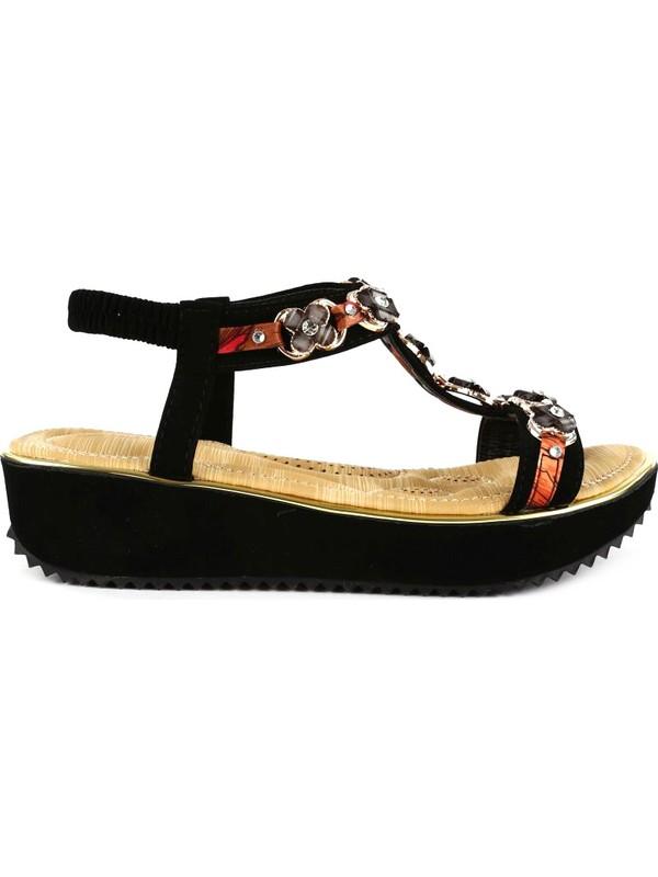 Guja 20Y236-4 Çocuk T-Stap Taşlı Sandalet