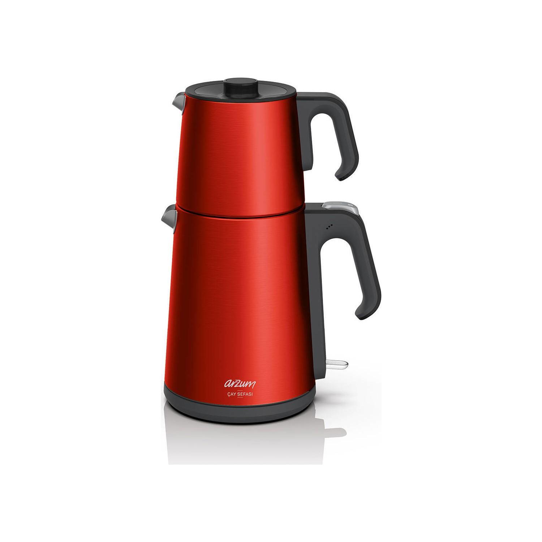 Arzum AR3080 Çay Sefası 1650 W Çelik Çay Makinesi Kırmızı