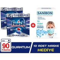 Finish Quantum 90 Tablet Bulaşık Makinesi Deterjanı + 10'lu Maske