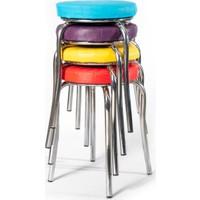 Ekip Shop Tabure Mutfak Sandalyesi 4 Adet Renkli