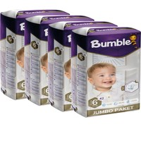 Bumble Bebek Bezi 6 Numara X-Large 4'lü Jumbo Paket 42 x 4=168'LI