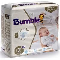 Bumble 2 Numara Mini Bebek Bezi Jumbo 80'li Paket