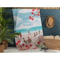 Madame Coco Saleccia Baskılı Kadife Plaj Havlusu - 75x150 cm