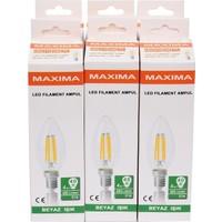 Maxima 4-36W E14 Filament Led Ampul - Beyaz Işık (İnce Duy) 6 Adet